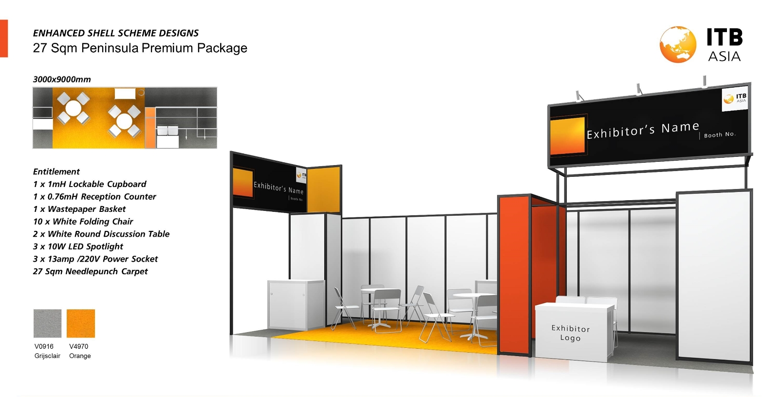 Exhibition Shell Zone : Shell scheme hire tradeshow and exhibition booth rental