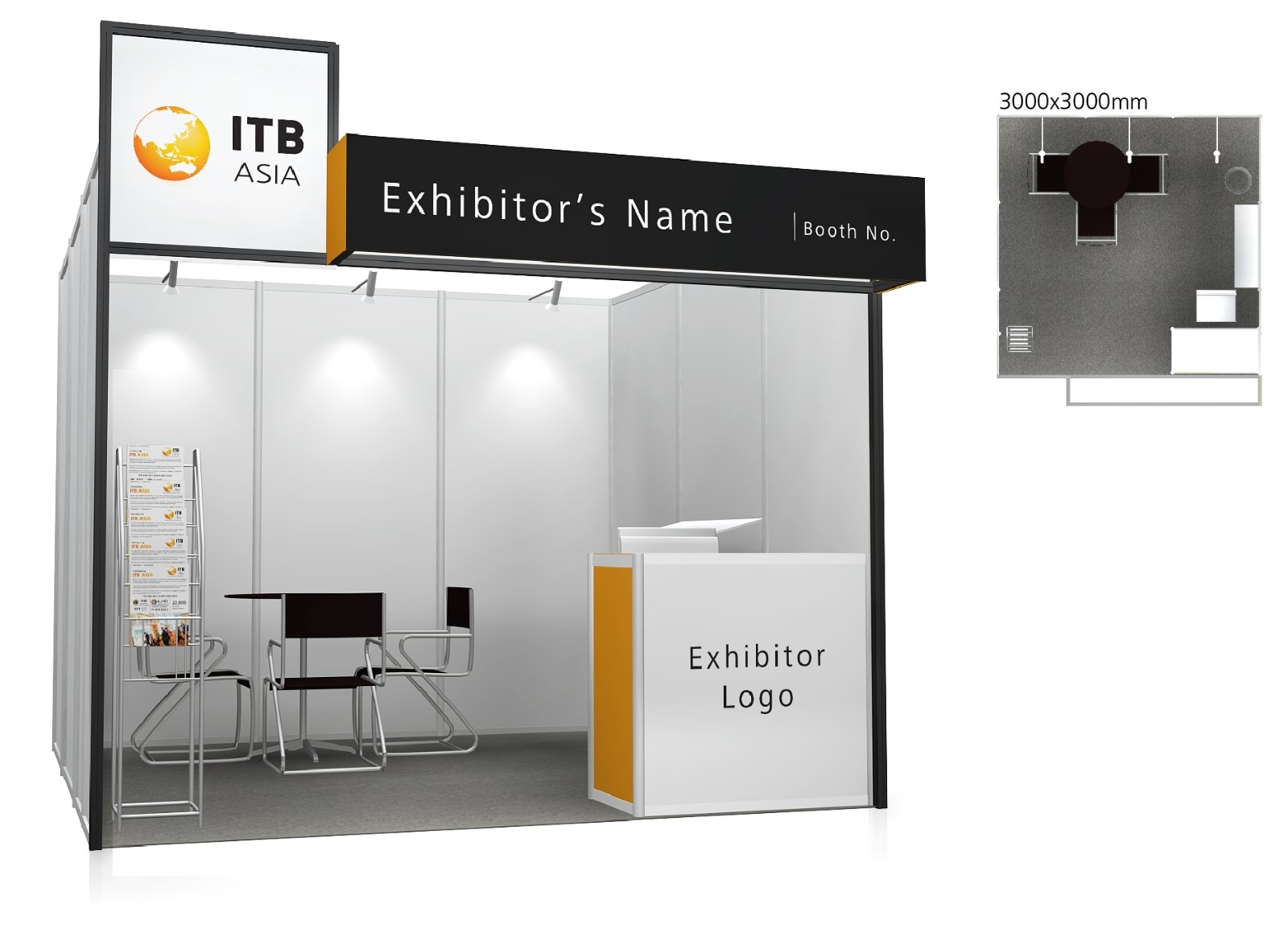 Exhibition Booth Standard Shell Scheme : Booth options